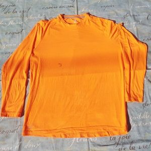 Other - 🎃 2 neon orange high visibility work shirts